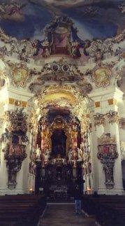Inside the Wieskirche