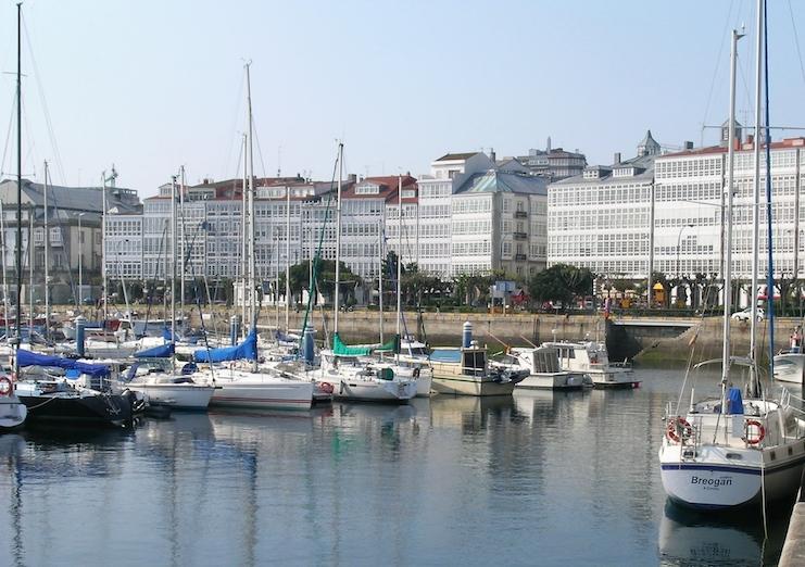 A Coruña's harbor