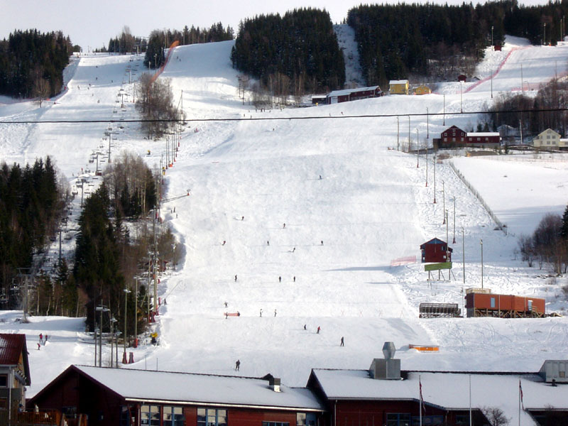 Skiing at Hafjell