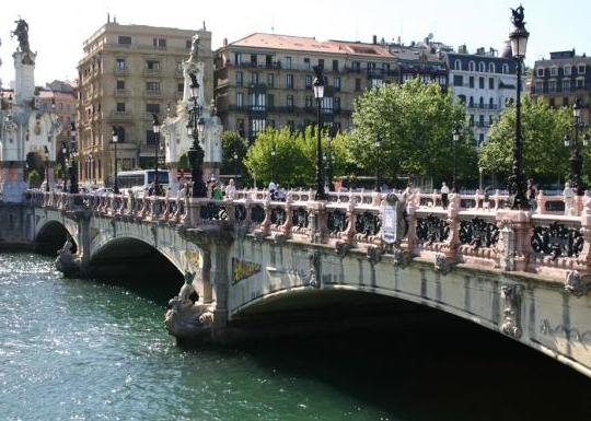 The  Maria Cristina bridge in San Sebastian
