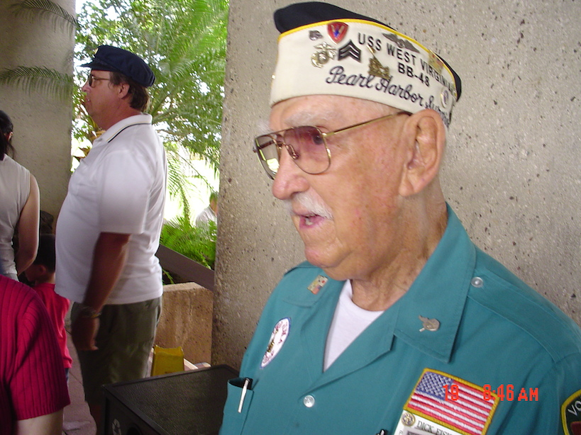 Our special guide, a veteran from the USS West Virginia