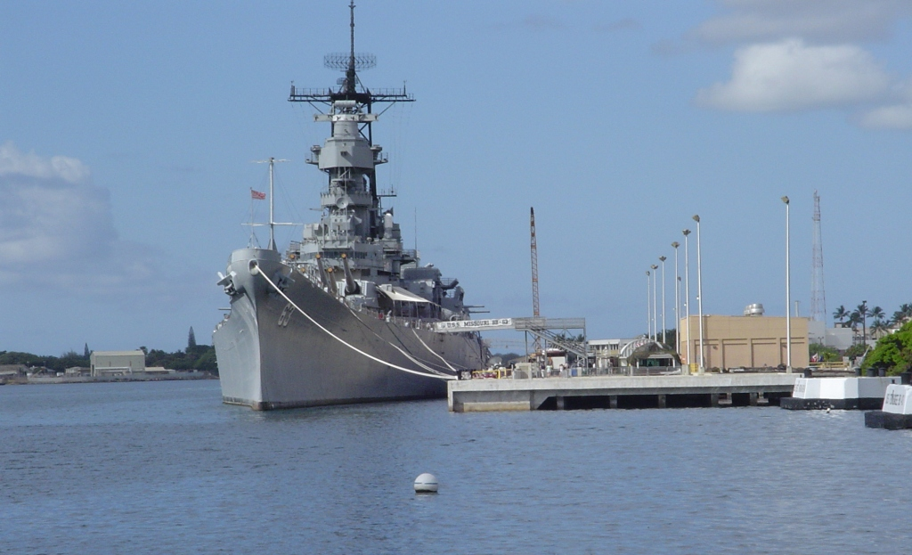 The Mighty Mo, USS Missouri, on whose deck WWII ended