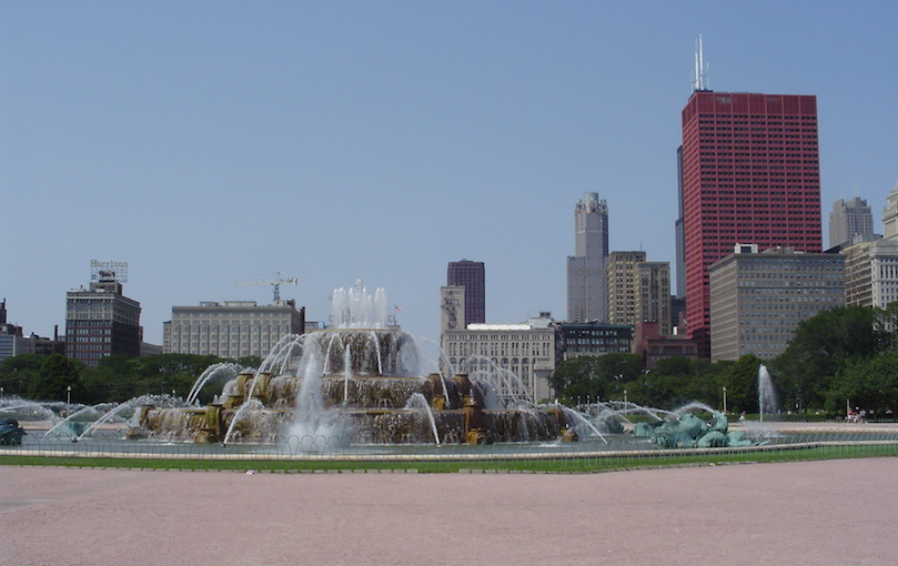 Beautiful Grant Park off the run course