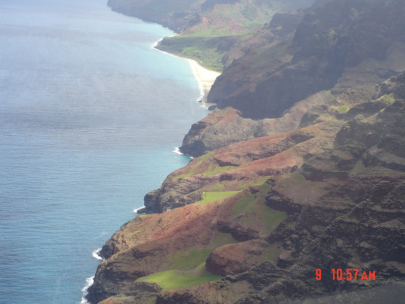 Na' Pali Coast, as we saw it from the helicopter yesterday