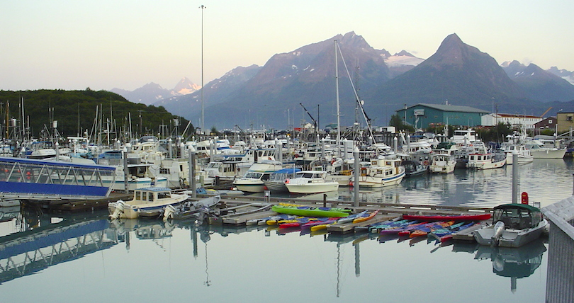 The harbor in Valdez