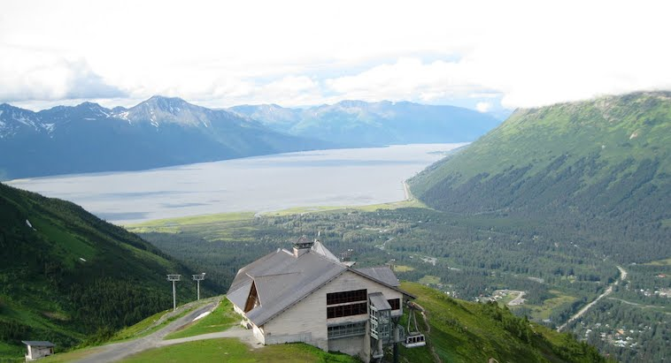View from the top of Alyeska Resort