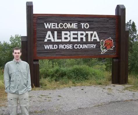 Heading into Alberta