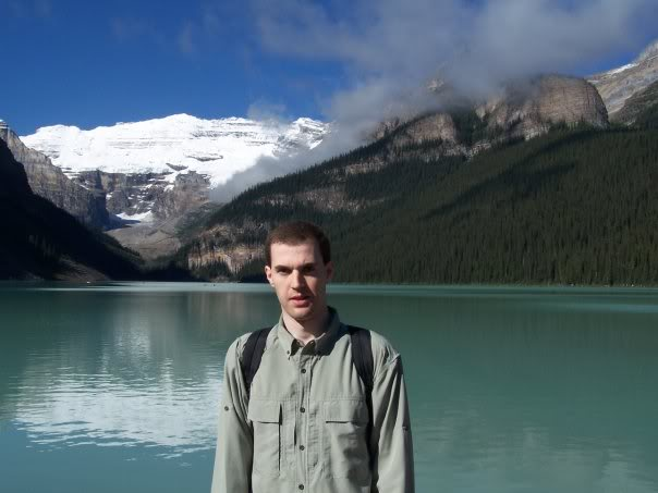 Jeff at Maligne Lake