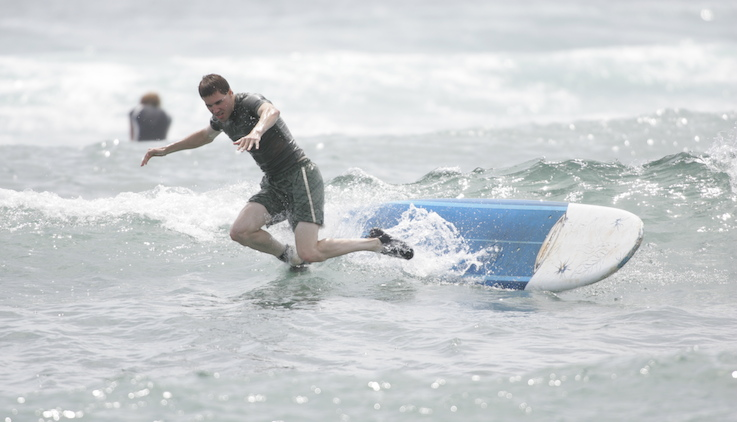 How not to surf!