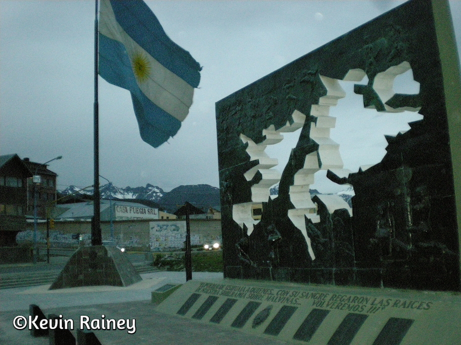 Malvinas memorial in Ushuaia