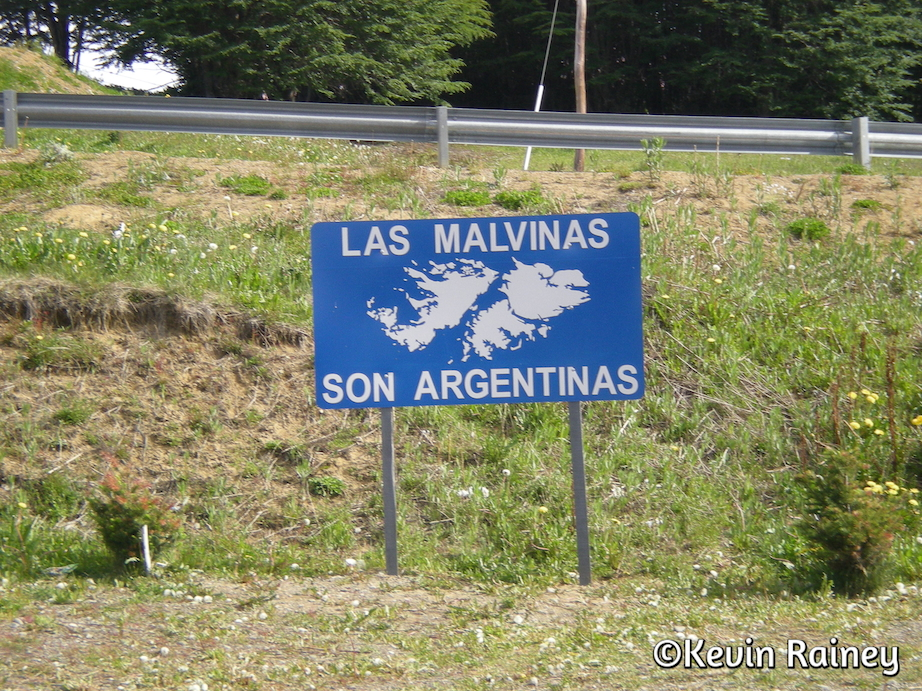The constant reminder that the Malvinas (Fauklands) belong to Argentina