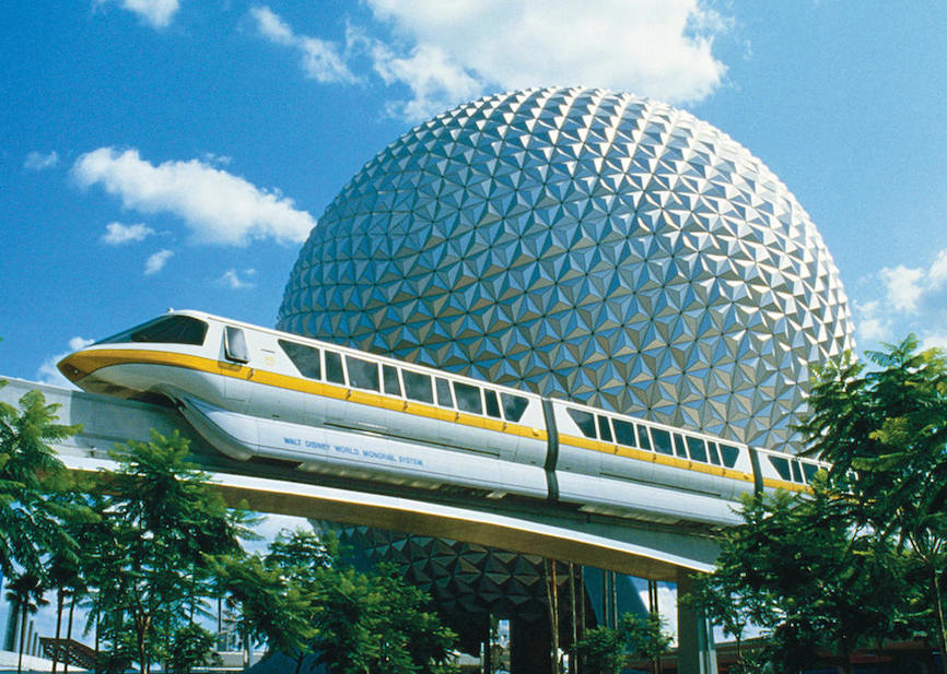 EPCOT Sphere with monorail