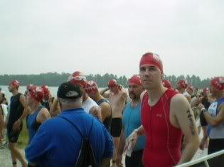 Nervous energy before the swim