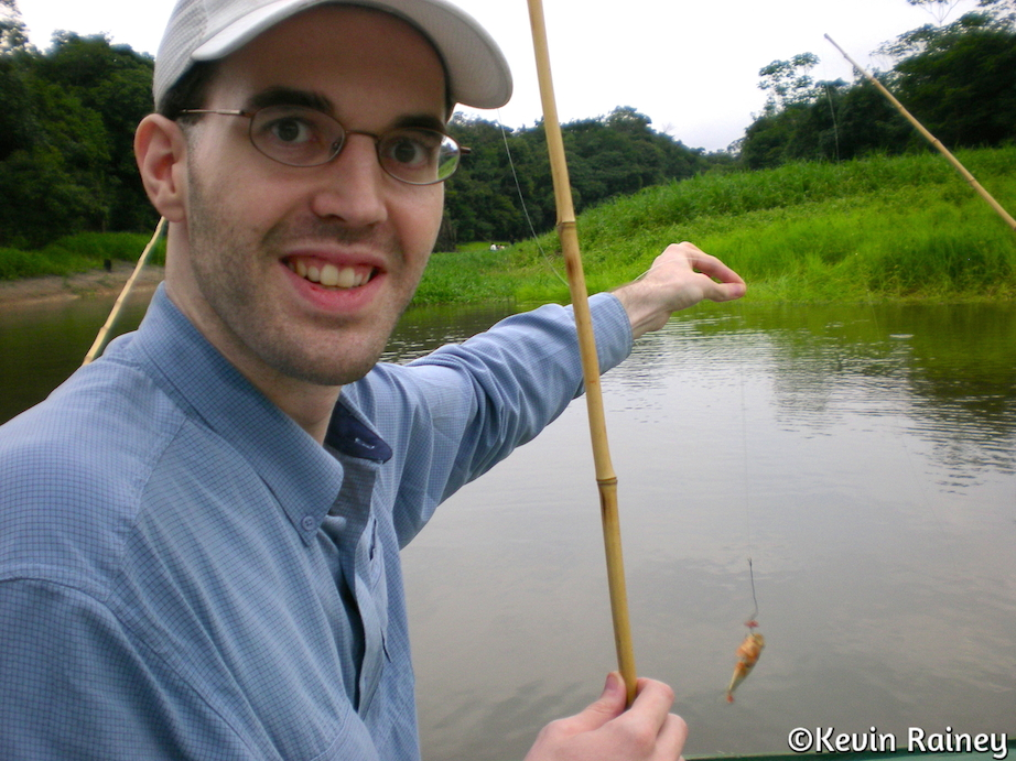 Jeff fishing for piranha
