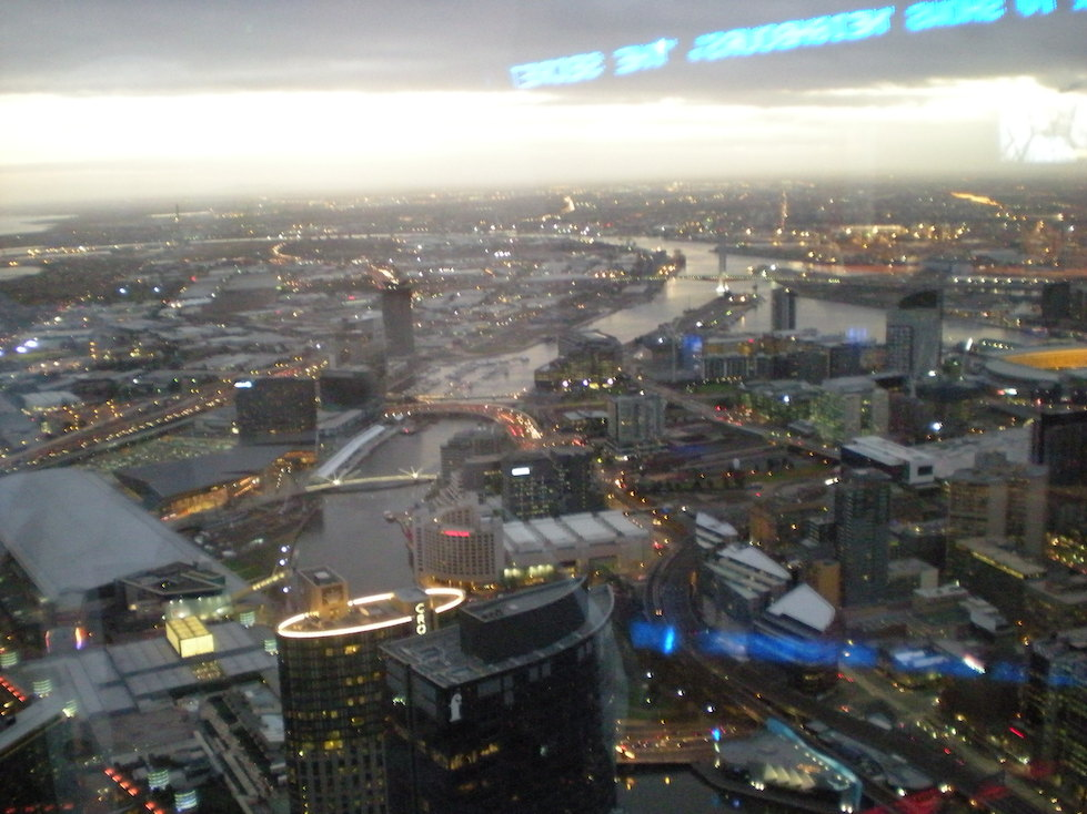 At the top of the Eureka Tower