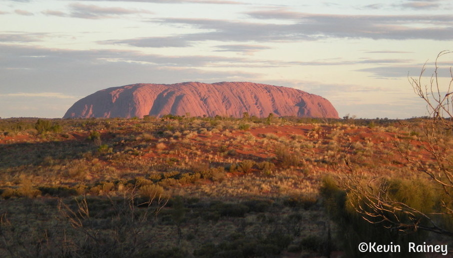 Sunset at the 'Sounds of Silence' dinner with Uluru in the background