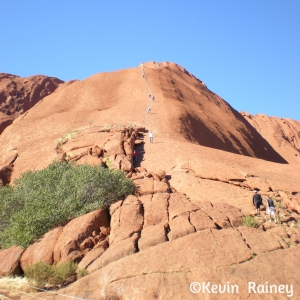 Looking up Uluru