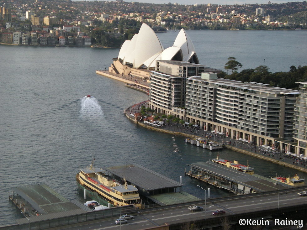 The Sydney Opera House from our hotel room