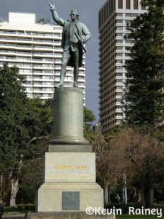 Captain Cook statue in Hyde Park