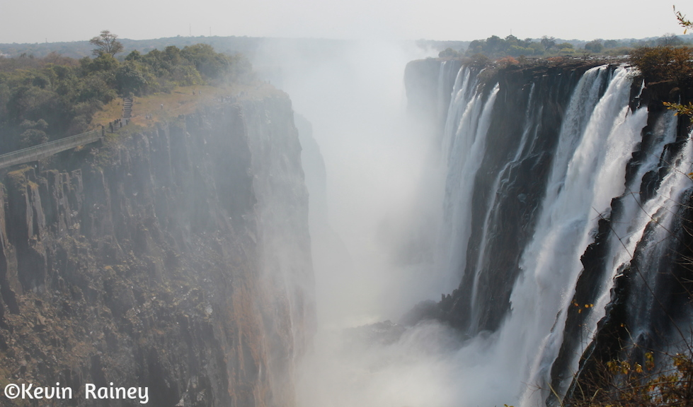 First view of Victoria Falls from Zambia
