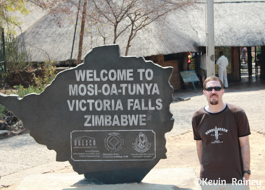Entrance to the falls and national park in Zimbabwe