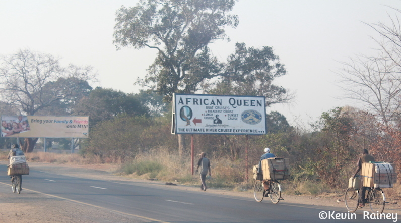 Bicycle traffic in Zambia