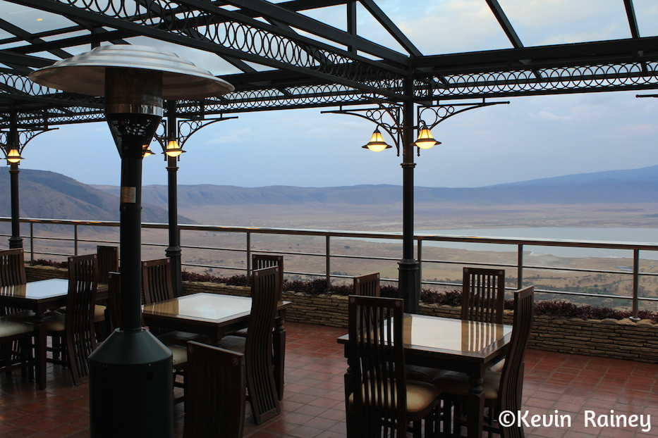 Our lodge overlooking Ngorongoro