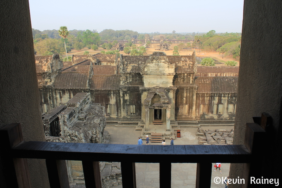 View from inside Angkor Wat