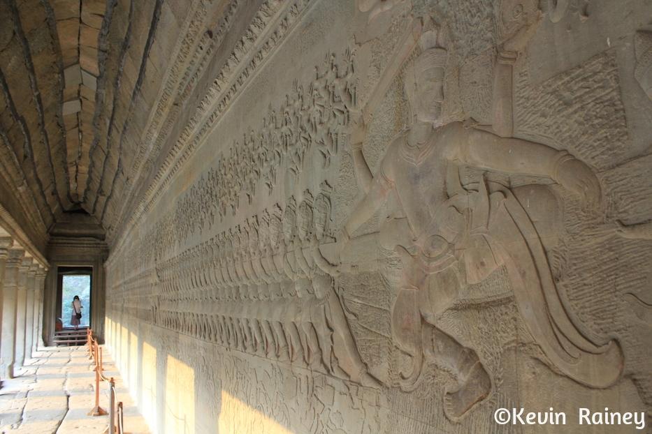 Murals inside Angkor Wat