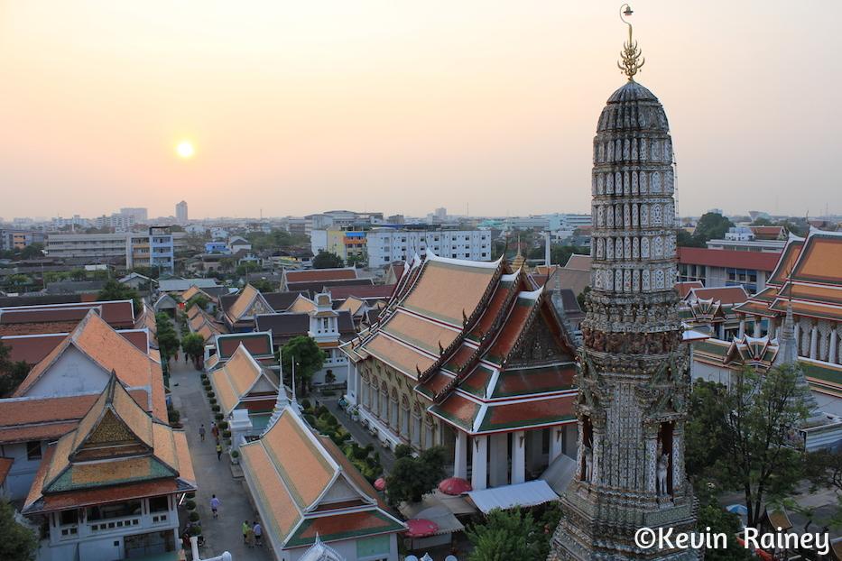 Sunset from Wat Arun