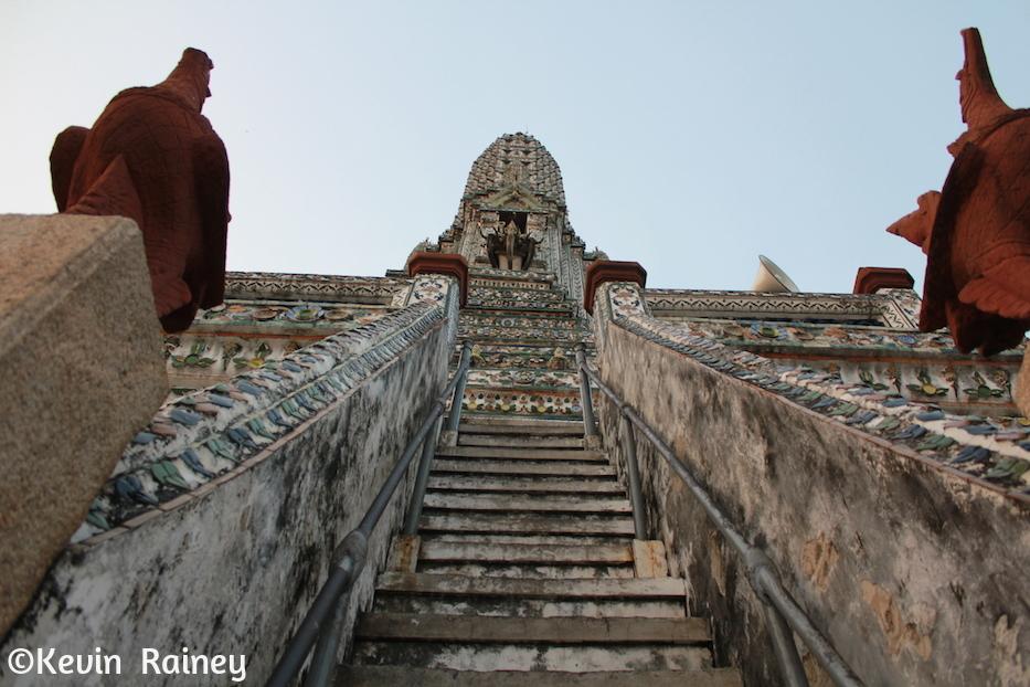 Climbing up Wat Arun