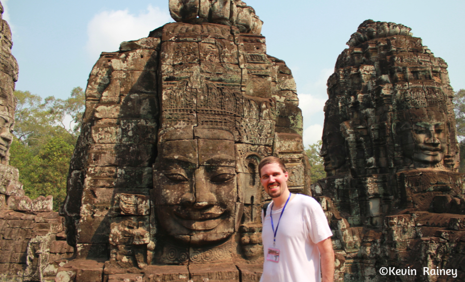 Me at Angkor Thom. I took off my long sleeve shirt because it was scorching.