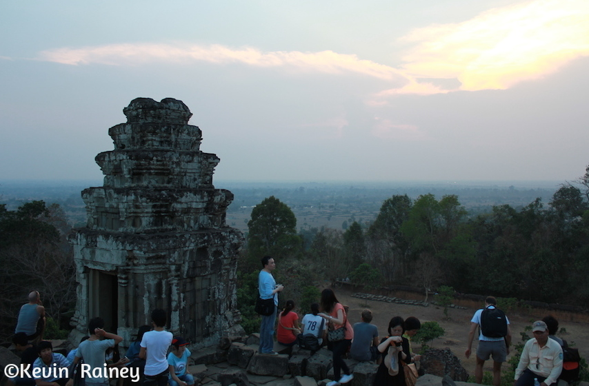 Sunset view of Angkor Wat from Phnom Bakheng