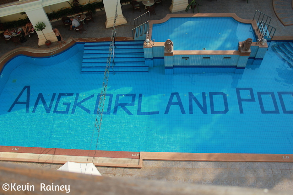 Angkorland Hotel pool from my room