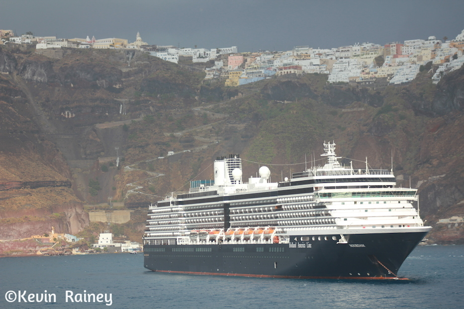 A Holland America ship in front of us