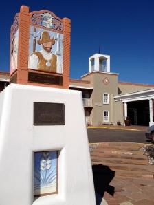 Santa Fe Hilton with historical marker
