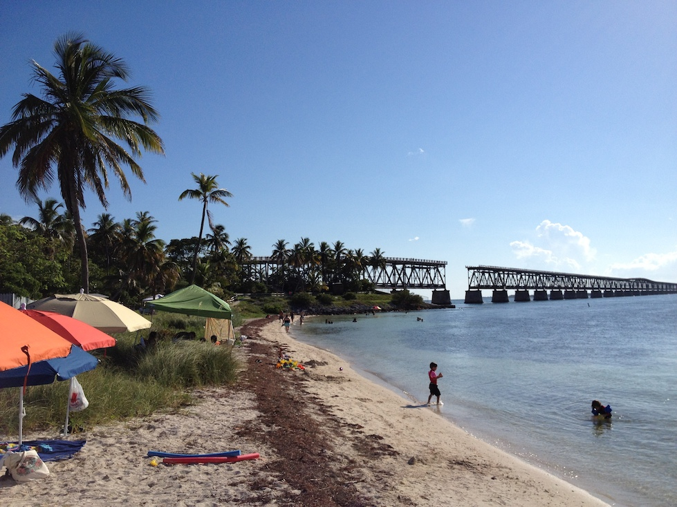The old Seven Mile Bridge