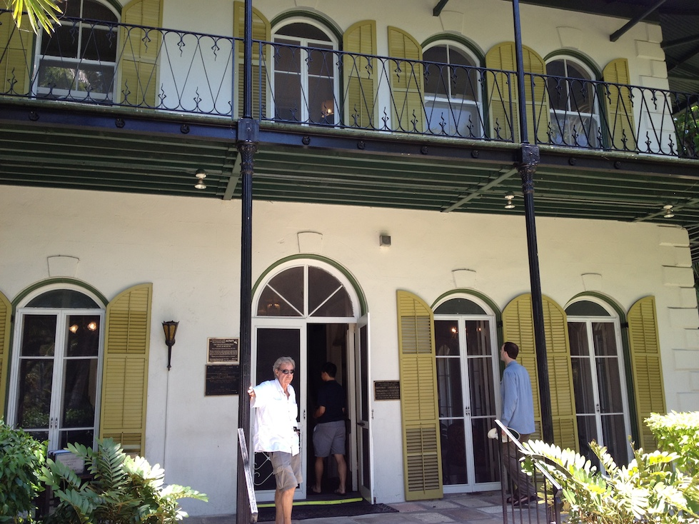 Entering Hemingway's home