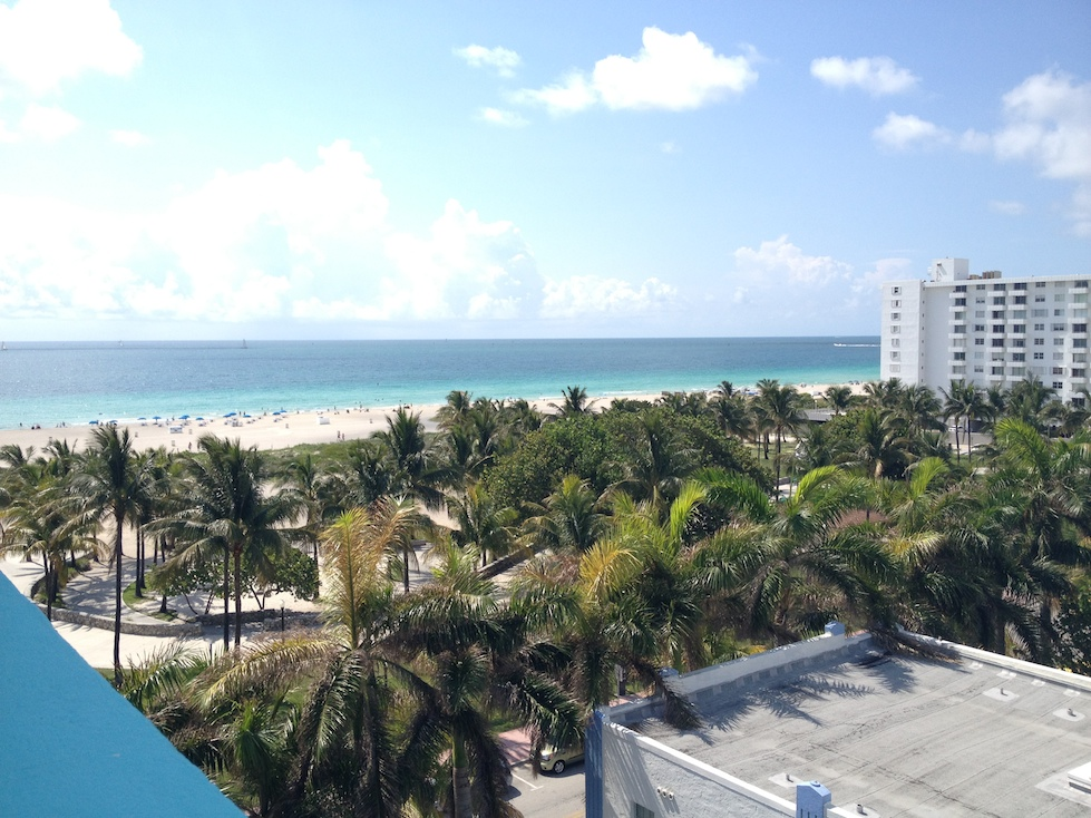 South Beach from our rooftop terrace