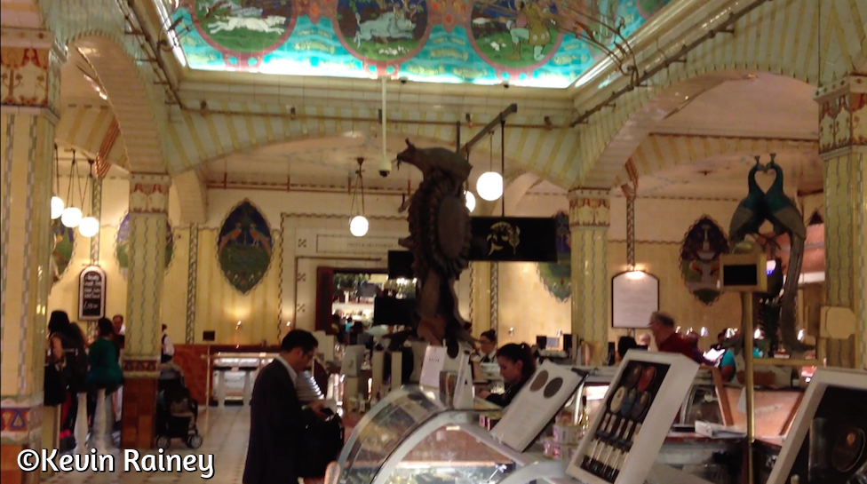 The Harrods food galleries