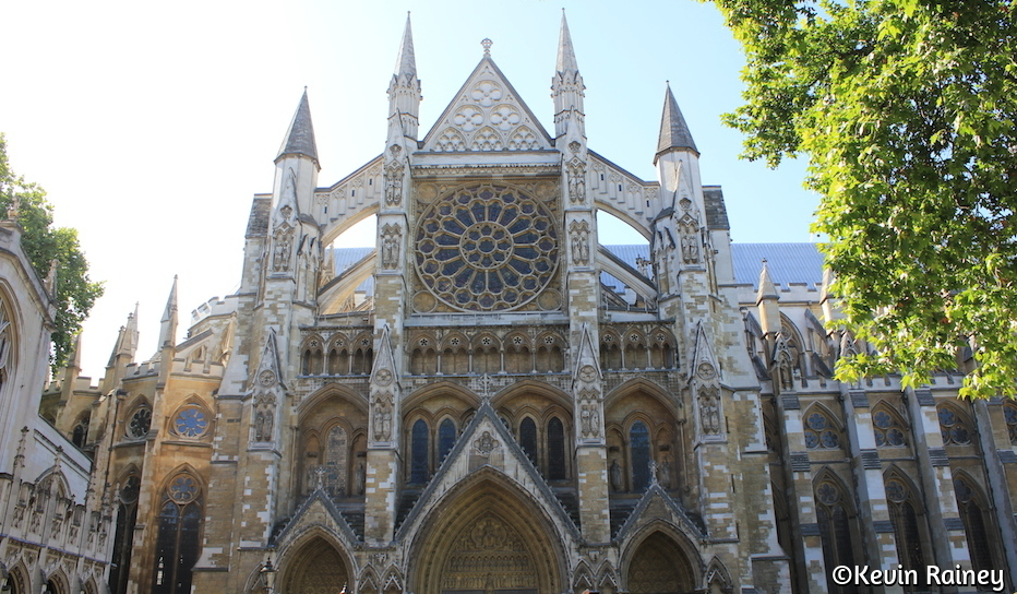Entering Westminster Abbey