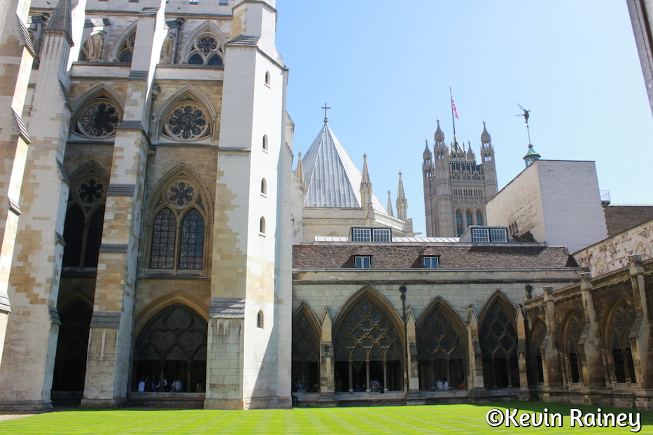 The courtyard at Westminster Abbey
