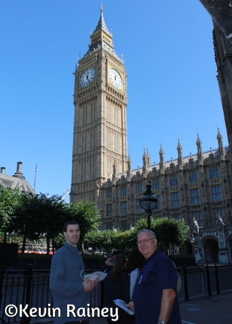 My Dad and brother outside the Palace of Westminster
