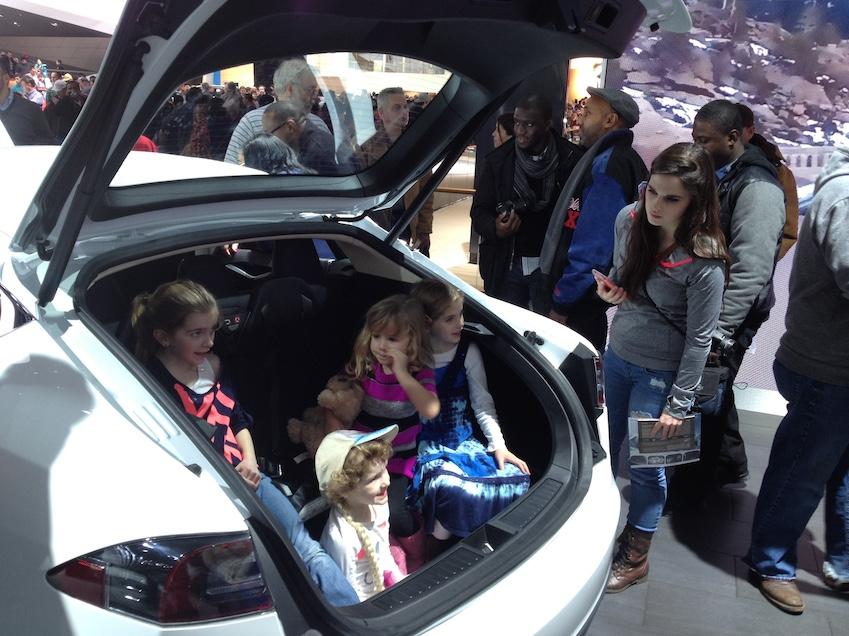 Tesla rear seating