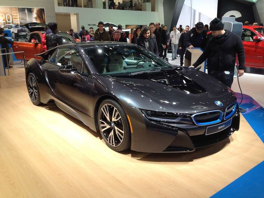 The BMW i8 ... electric competitor to Tesla