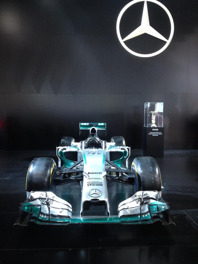 Lewis Hamilton's F1 championship car from Abu Dhabi.