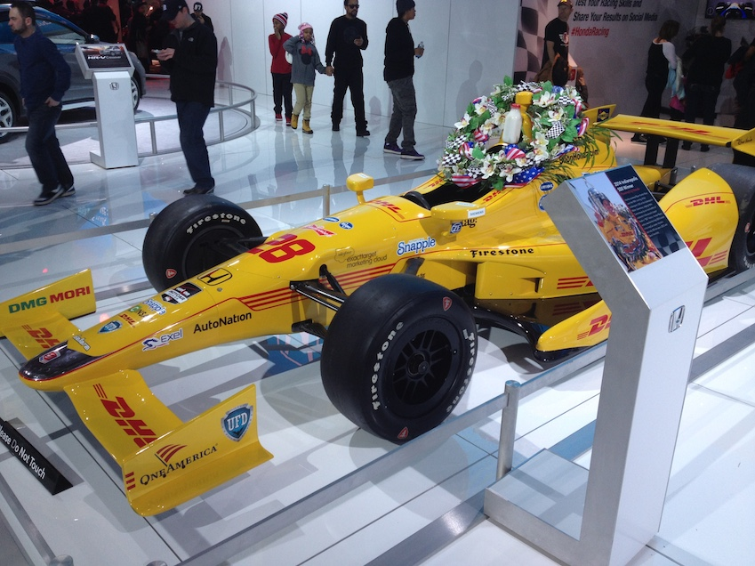 Ryan Hunter-Reay's winning Honda from the 2014 Indy 500