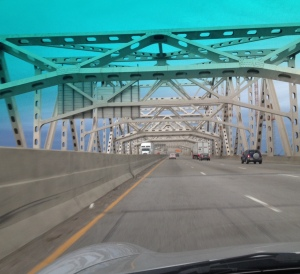 The JFK Memorial Bridge across the Ohio River