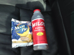 Pit stop in Dixie: Moon pie and Milo's sweet tea