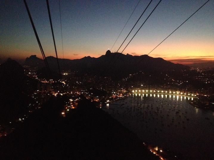 View from Paõ de Açúcar at sunset